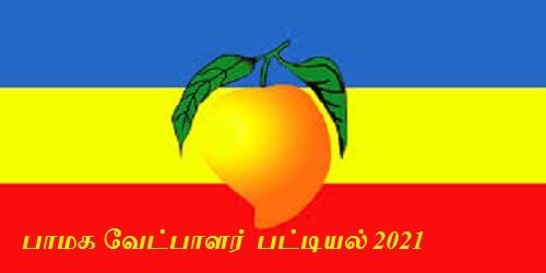 பாமக வேட்பாளர் பட்டியல் 2021